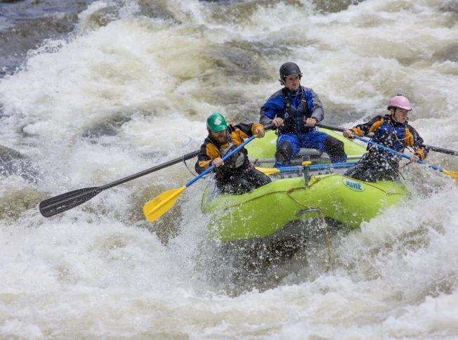 White water rafting on the Lochsa River, Idaho.